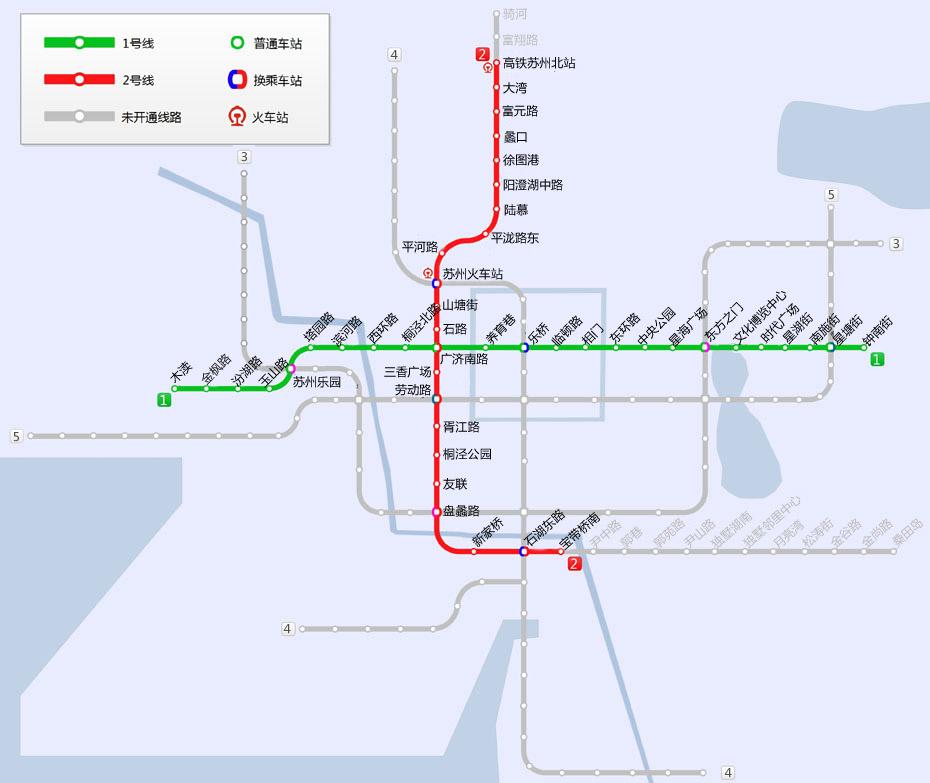 苏州地铁线路图